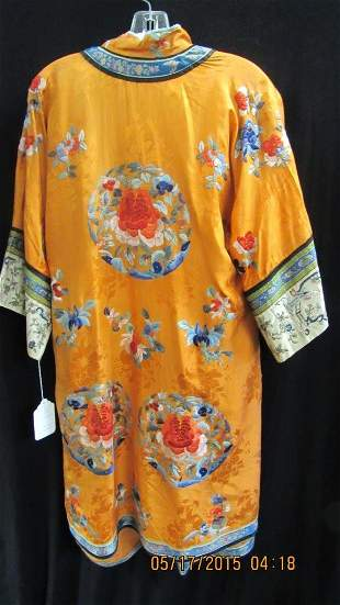 Qing Dynasty Womens Silk Coat Set