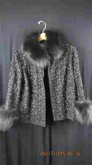 Custom Handmade Beaded Fur Jacket