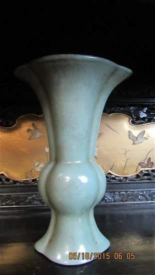 Qing Dynasty 16th century Glazed ceramic vase