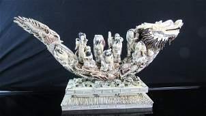 Qing Dynasty Lobster Shell Figurine