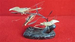 Shrimp Carving Figurine