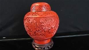 Cinnabar Ginger Jar