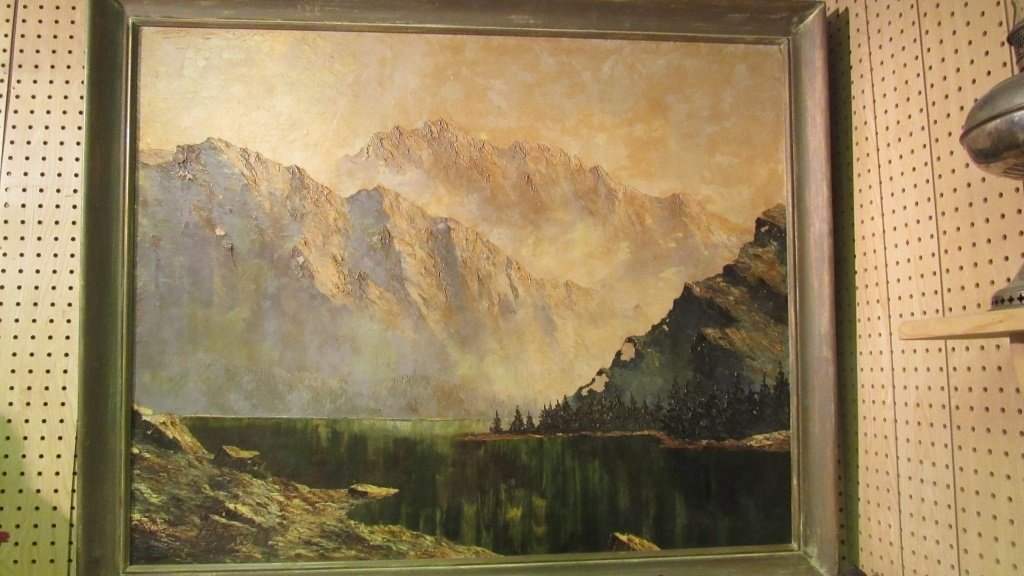 European Mountain Landscape Painting