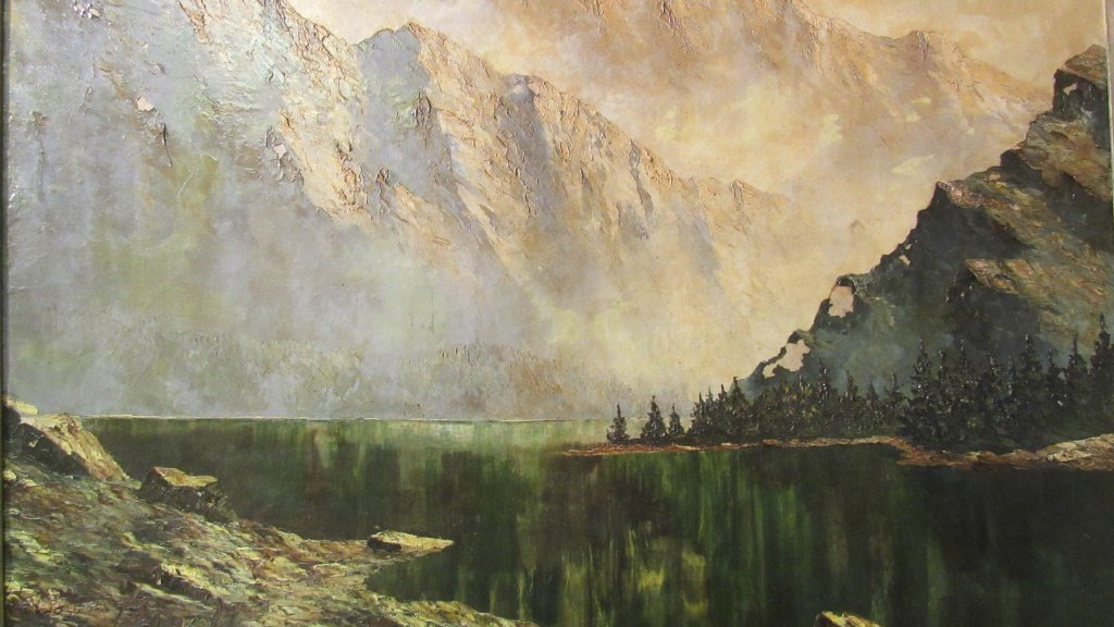 European Mountain Landscape Painting - 5