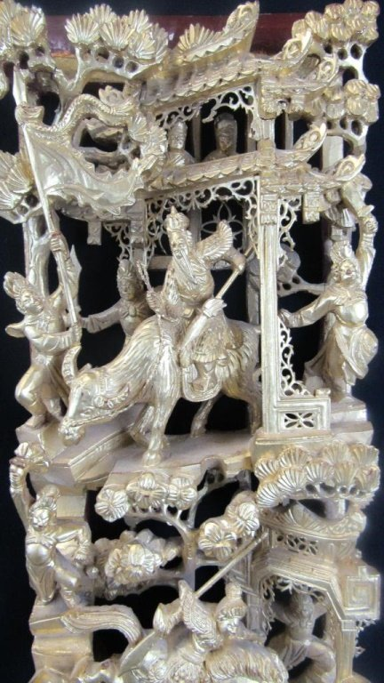 Chinese Dynasty Wood Carving