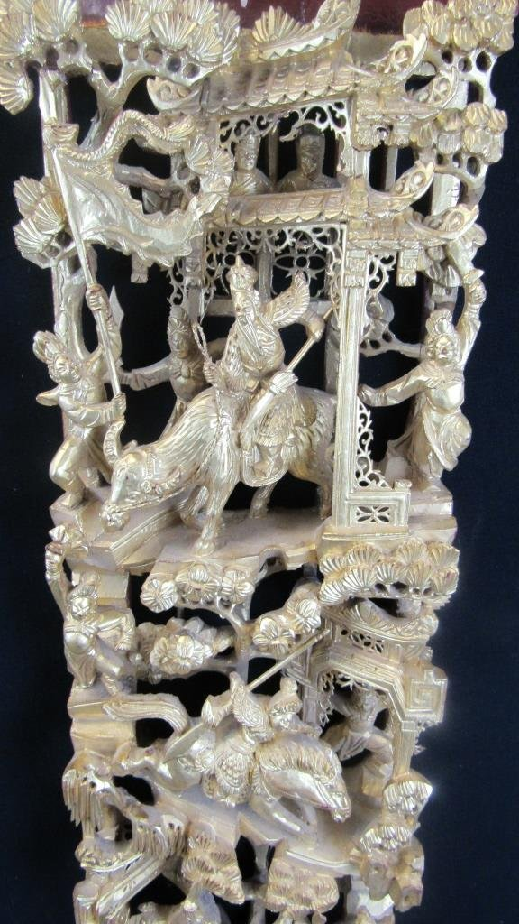 Chinese Dynasty Wood Carving - 5