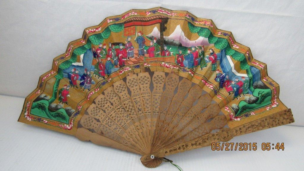 19th Century Incense Wood Fan - 4