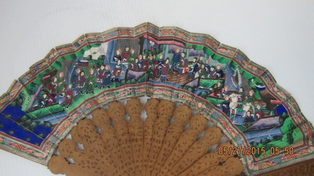 19th Century Incense Wood Fan - 7