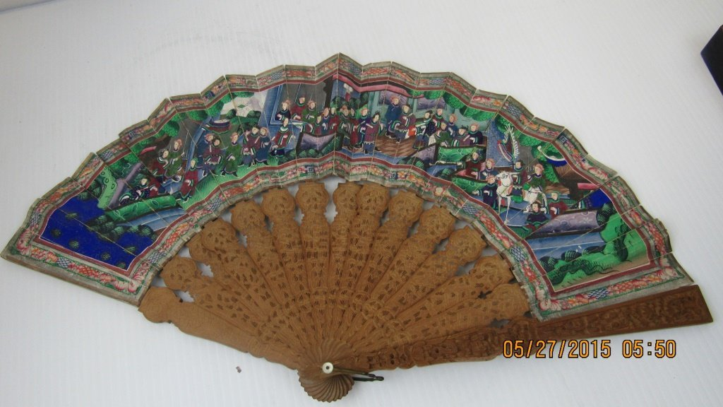 19th Century Incense Wood Fan - 8