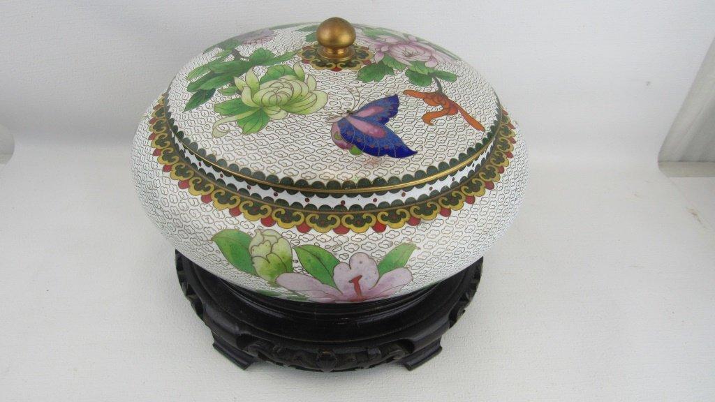 Cloisonne Lidded Bowl