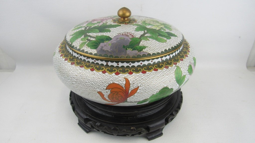 Cloisonne Lidded Bowl - 2