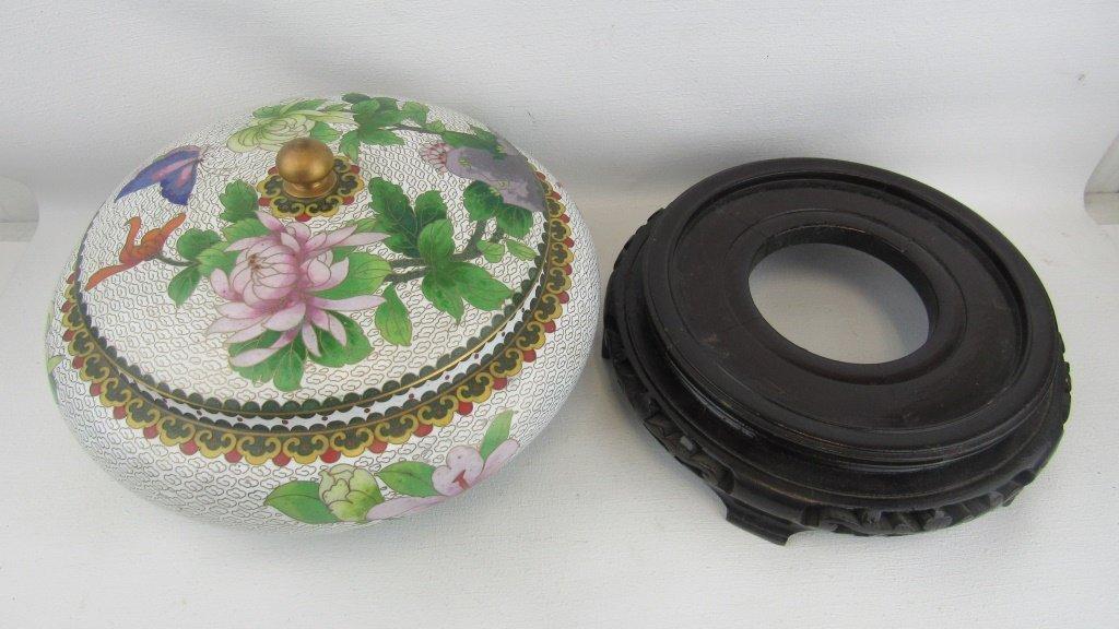 Cloisonne Lidded Bowl - 4