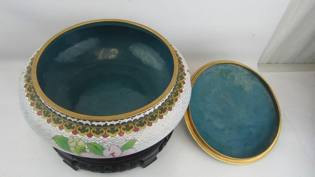 Cloisonne Lidded Bowl - 6