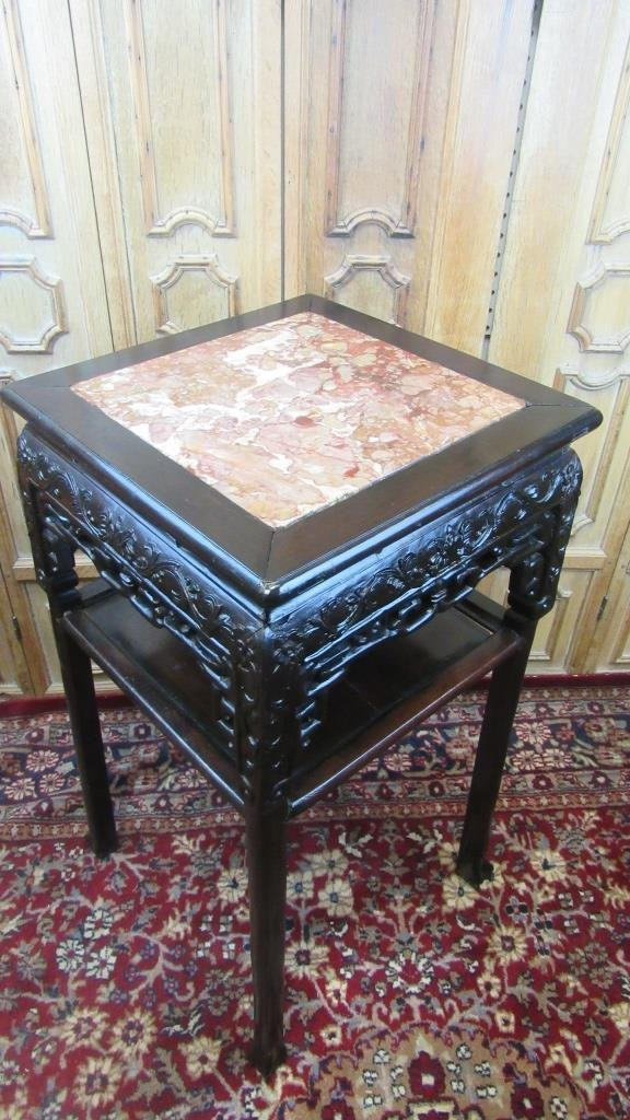 19th Century Chinese Carved Rosewood Stand - 2