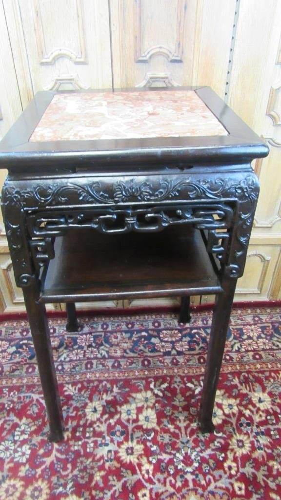 19th Century Chinese Carved Rosewood Stand - 4