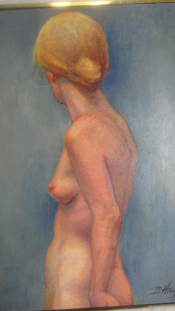 Beautiful Nude Oil Canvas Painting - 3