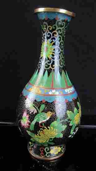 Black Cloisonne Vase