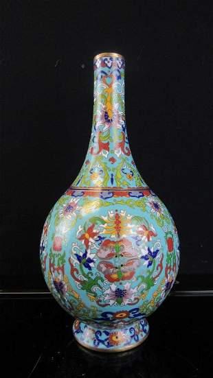 Blue Cloisonne Vase
