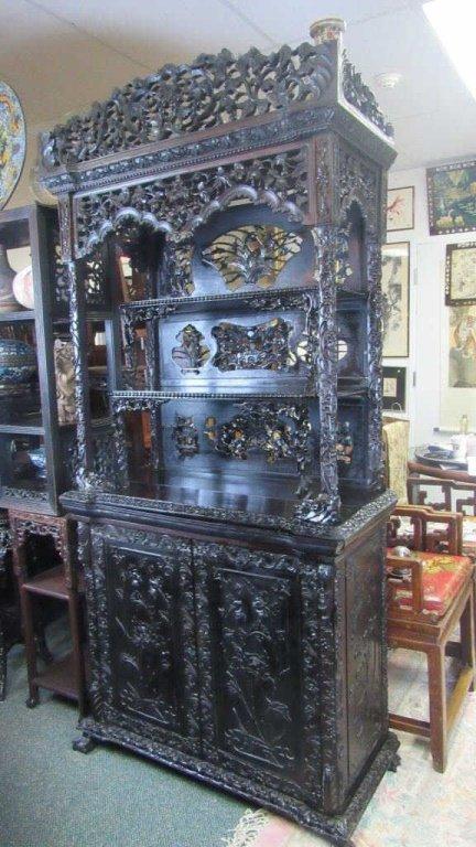 Chinese Antique Rosewood Shelf
