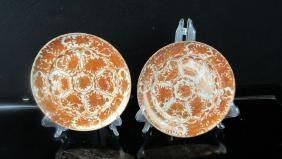 Pair of Qing Dynasty Enameled Porcelain Plates