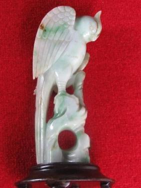 Chinese Jade Bird Figurine