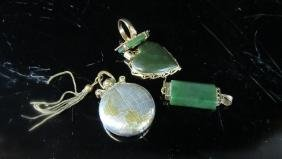 Lot of 4 pieces Silver and Jade Jewelry