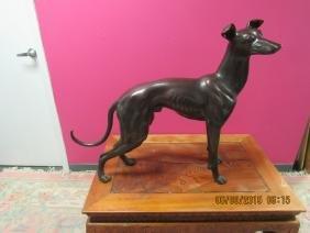 Antique Bronze Greyhound Statue