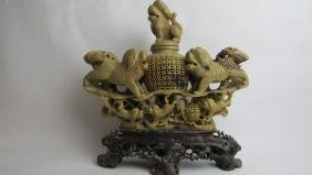 Old Chinese Soapstone Sculpture