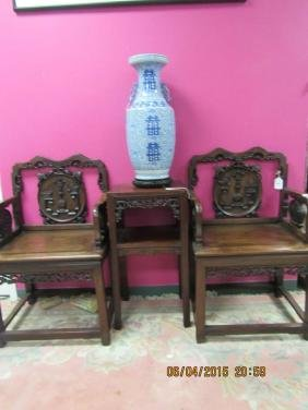 Pair of Rosewood Armchairs