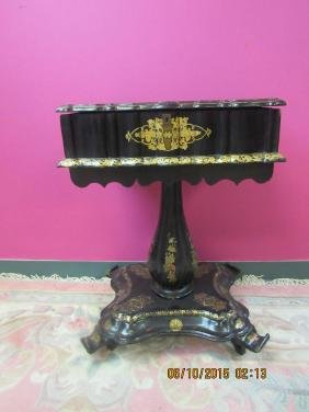 Victorian Side Table with Mother of Pearl Inlay