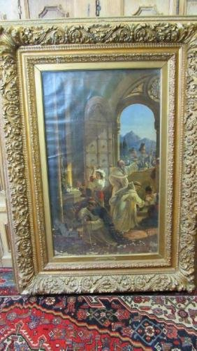 19th Century German Oil on Canvas Painting