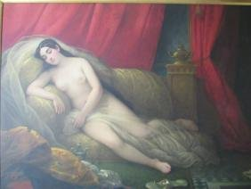 Large French Nude Painting
