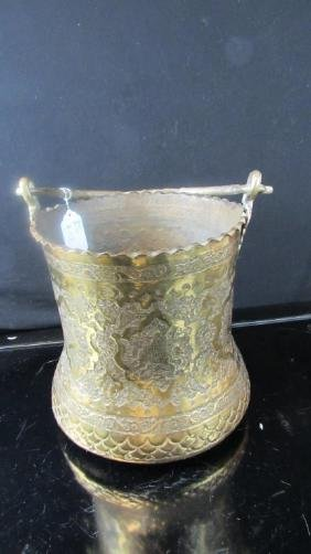 Indian Brass Flower Pot