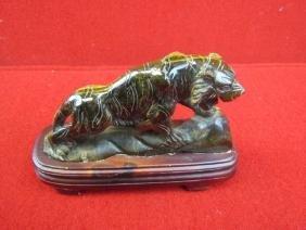 Stone Tiger Figurine