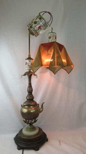 Late 19th Century Unique Cloisonne Exported Lamp