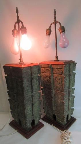 Pair of Stunning Bronze Table Lamps