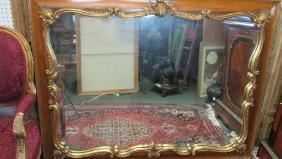Vintage Ornately Framed Glass Mirror