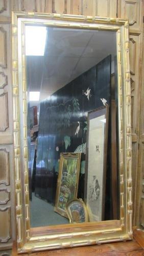Ornately Framed Beveled Glass Mirror