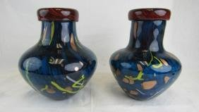 Pair of Murano Glass Vases