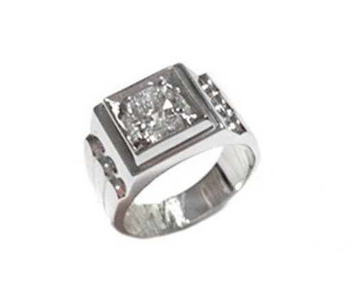 1.00ct. Center Diamond Ring 18K-EGL