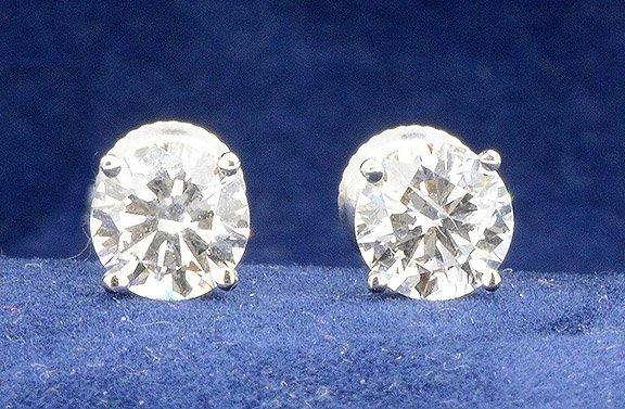 2.27ct.tw Diamond Stud Earrings 18K-EGL