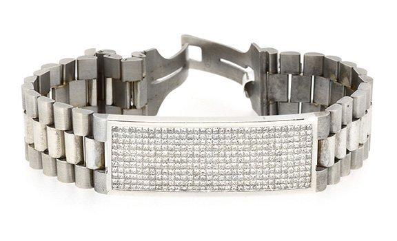 8.25ct.tw Princess Cut  Diamond Bracelet 18K