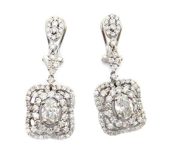3.41ct.tw Diamond Earrings 18K