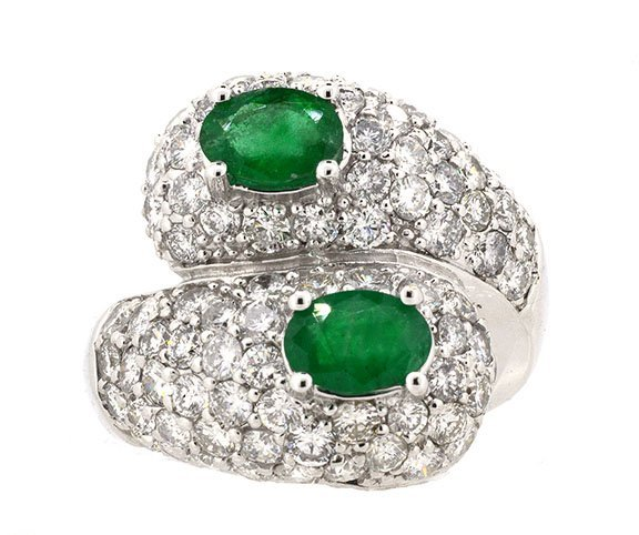1.17ct.tw Emerald Ring 18K
