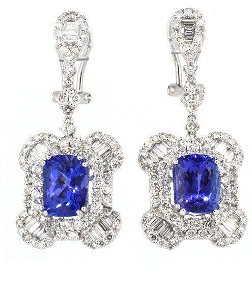 5.75ct.tw Tanzanite Earrings 18K