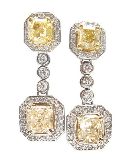 5.06ct.tw Diamond Earrings 18K