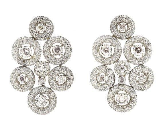 13.61ct.tw Diamond Earrings 18K