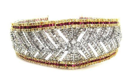 7.64ct.tw Ruby Bracelet 18K