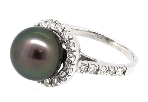 11.11mm Center South Sea Pearl Ring 18K