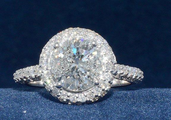 2.11ct. Center Round Diamond Ring 18K-EGL SI2-E